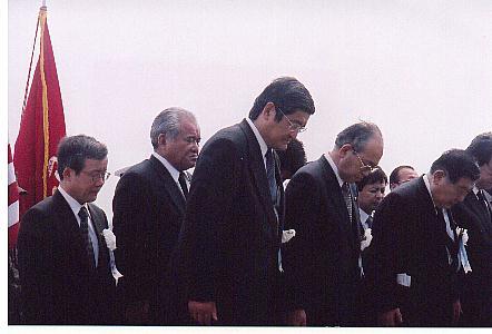 日米硫黄島戦没者合同慰霊顕彰式に参列
